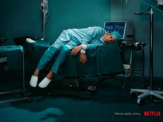 Netflix Print Ad - Asleep