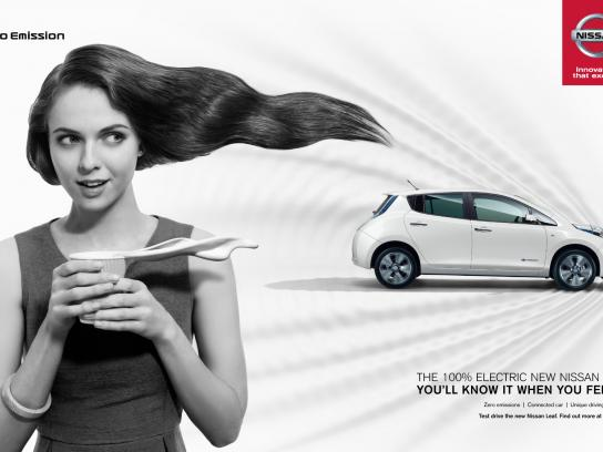 Nissan Print Ad -  Feel the Surge, Girl