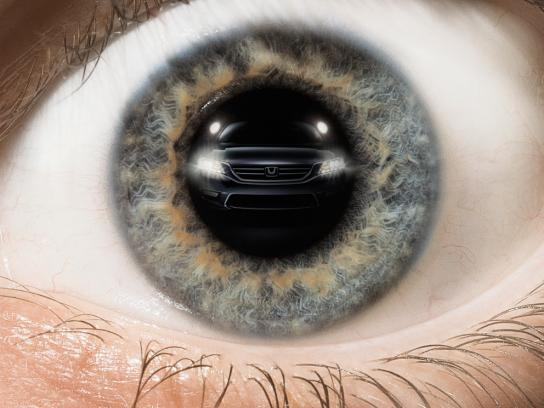 Honda Print Ad -  Eye, 1