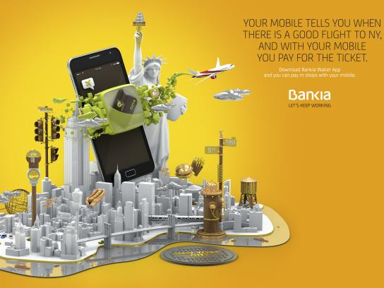 Bankia Print Ad - New York