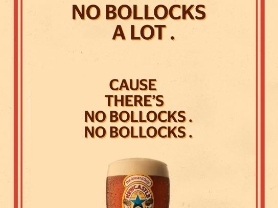 Newcastle Brown Ale Print Ad -  No bollocks, 3