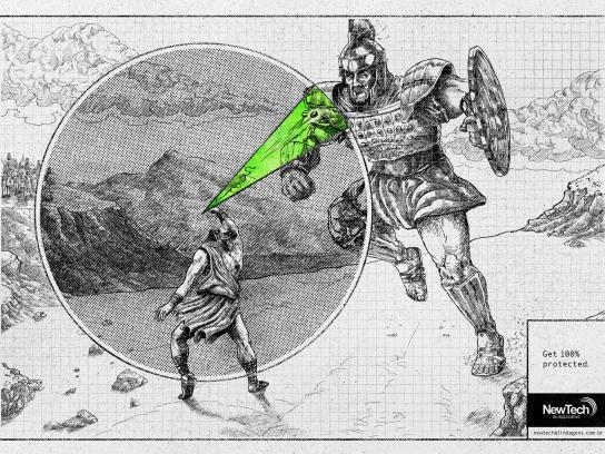 Newtech Print Ad - Goliath