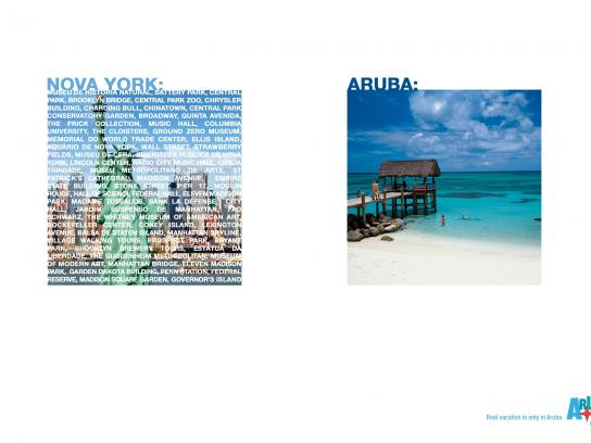 Aruba Tourism Authority Print Ad -  Real vacation - New York