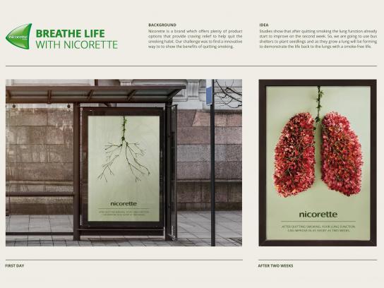 Nicorette Outdoor Ad - Breathe Life