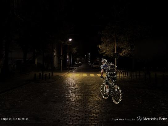 Mercedes Print Ad -  Bike