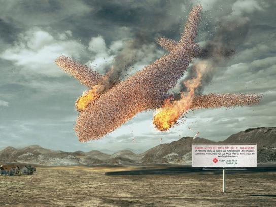 Nisa Hospital Print Ad -  Plane crash