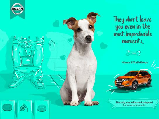 Nissan Print Ad - X-Trail 4 Dogs, 1