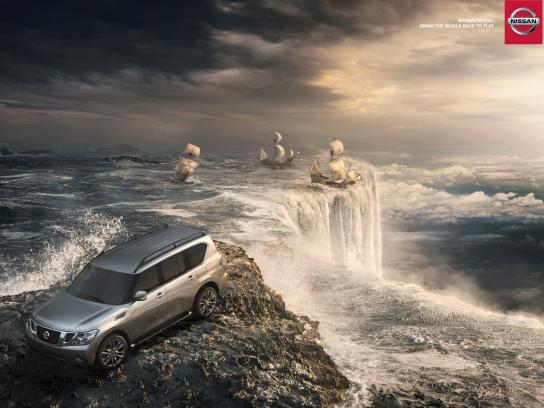 Nissan Print Ad -  Back to flat