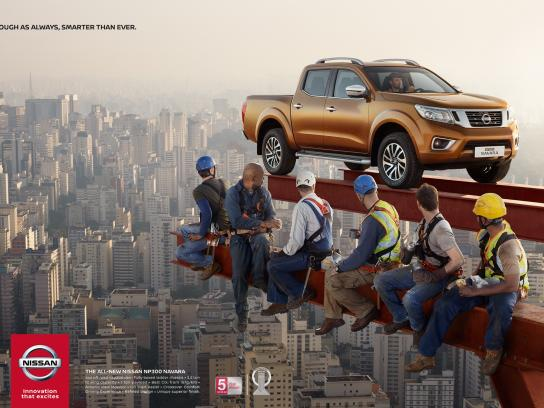 Nissan Print Ad -  Navara lunch break