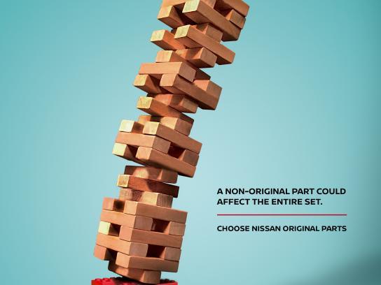 Nissan Print Ad - Original Parts - Jenga