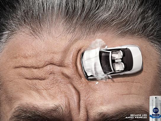 Nivea Print Ad -  Worry lines, Car