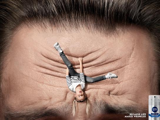 Nivea Print Ad -  Worry lines, Kids