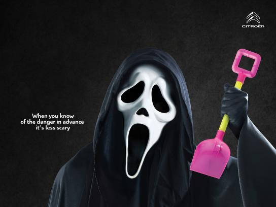 Citroën Print Ad - When You Know Of The Danger In Advance It's Less Scary