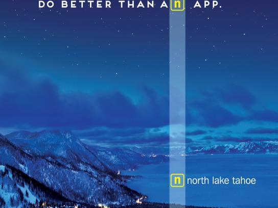 North Lake Tahoe Outdoor Ad -  Stars
