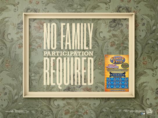 New York Lottery Print Ad -  No Family Required