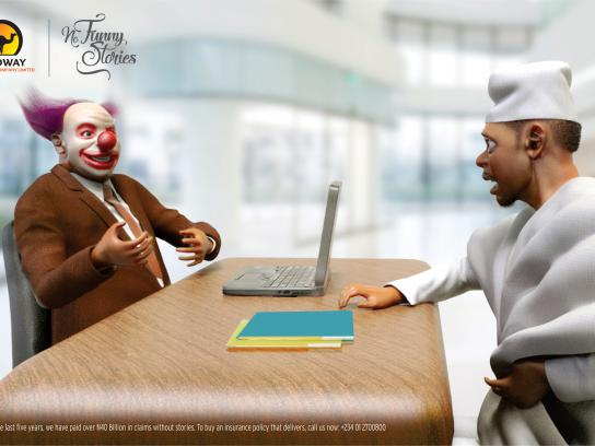 Leadway Print Ad - No Funny Stories, 1