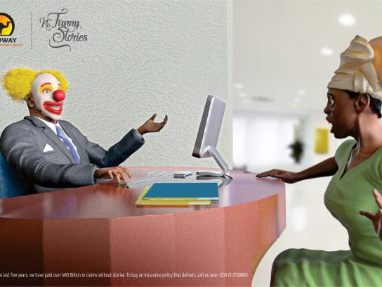 Leadway Print Ad - No Funny Stories, 2
