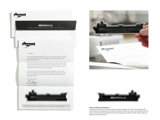 Dogwood Initiative Direct Ad -  Oil Samples