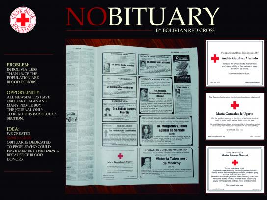 Cruz Roja Print Ad - Nobituaries