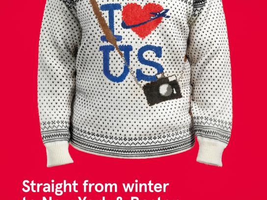 Norwegian Print Ad -  Norwegian knitwear, 1