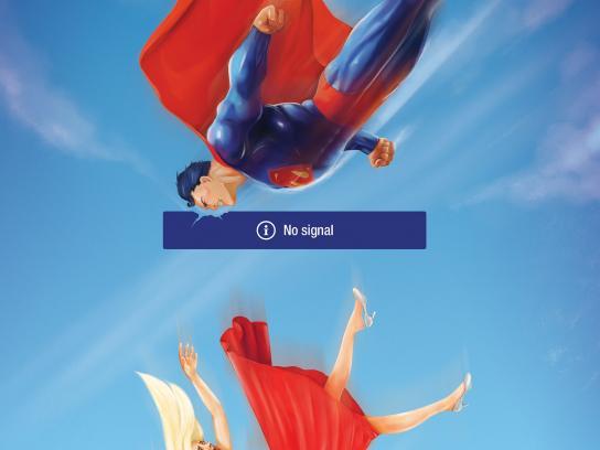 Viasat Print Ad -  Superman