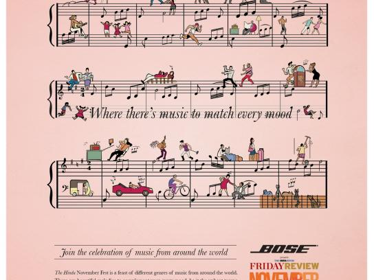 The Hindu Print Ad -  November Fest, Where there's music to match every mood