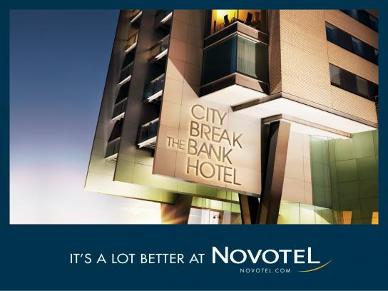 Novotel Outdoor Ad -  It's a lot better at Novotel, 1