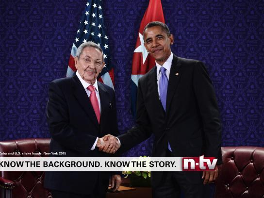 n-tv Print Ad - Wallpaper - Castro - Obama
