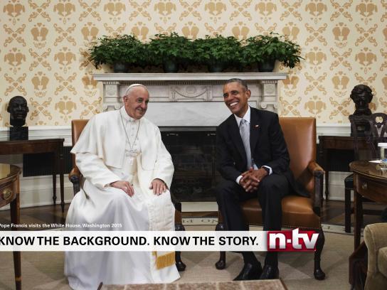 n-tv Print Ad - Wallpaper - Pope Francis - Obama