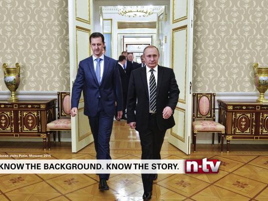 n-tv Print Ad - Wallpaper - Assad - Putin