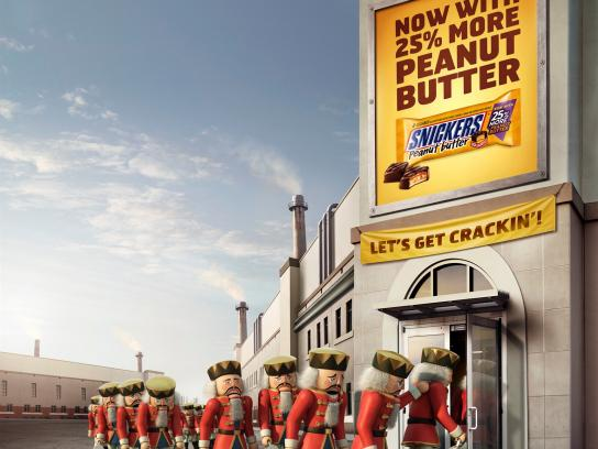 Snickers Print Ad -  Nutcrackers