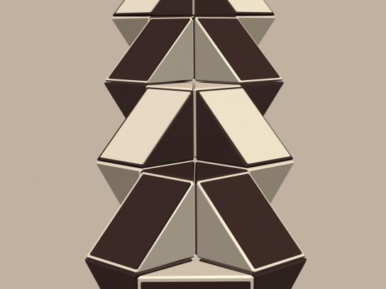 Kaffeine Print Ad -  Rubik Snake