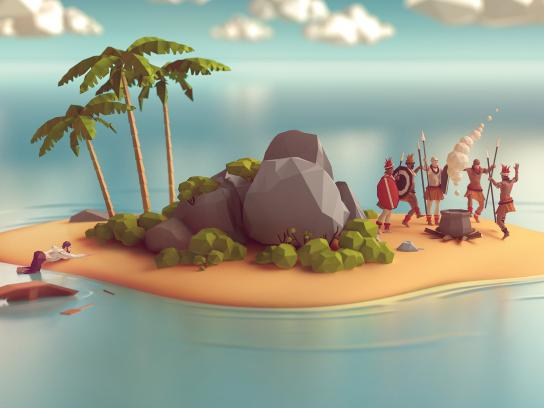 Volkswagen Print Ad - One Accident Is Enough, Island