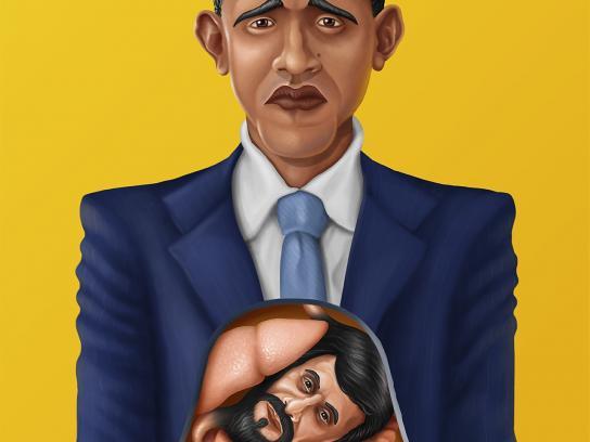 Tommys Diner & Burger Print Ad -  Obama