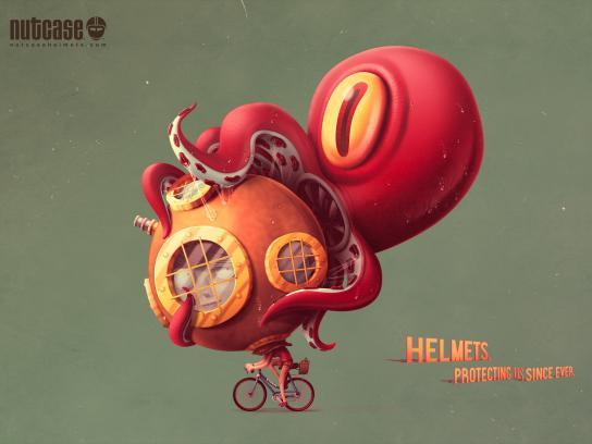 Nutcase Print Ad - Octopus