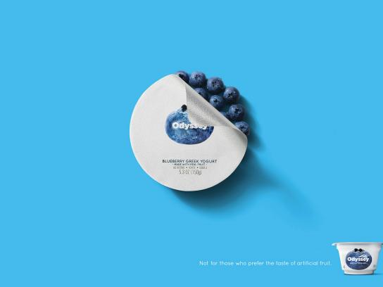 Odyssey Greek Yogurt Print Ad - Blueberry
