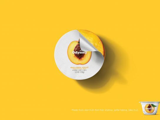 Odyssey Greek Yogurt Print Ad - Peach