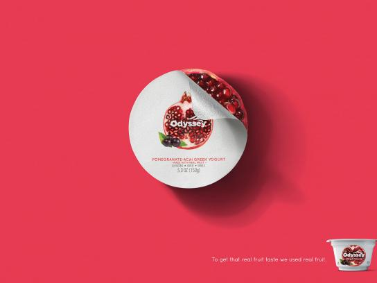 Odyssey Greek Yogurt Print Ad - Pomegranate