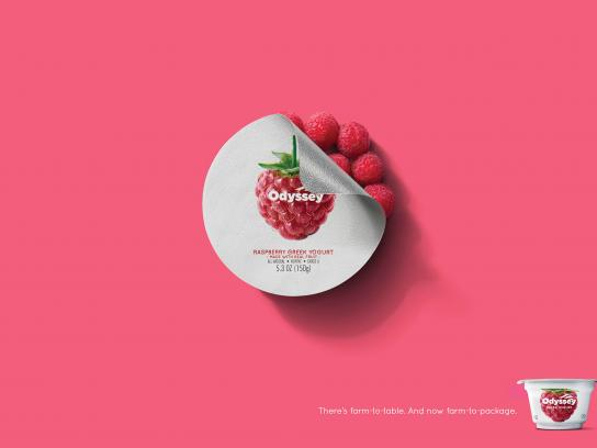 Odyssey Greek Yogurt Print Ad - Raspberry