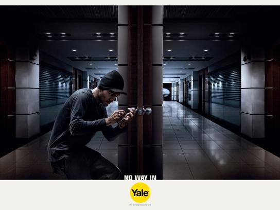 Yale Print Ad -  Keep the uninvited out, Office
