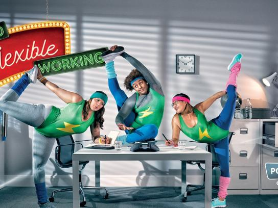 Powwownow Print Ad -  Here's to flexible working, 3