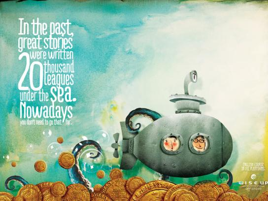 Wise Up Offshore Print Ad -  Under the sea