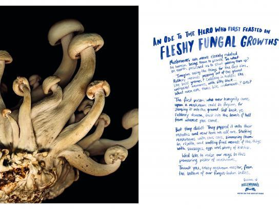 Hellmann's Print Ad - Fleshy Fungal Growths
