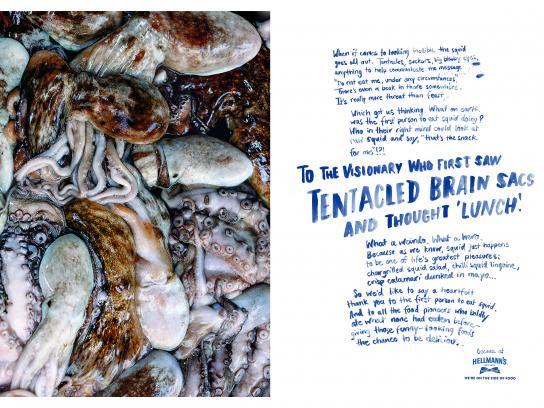 Hellmann's Print Ad - Tentacled Brain Sacs