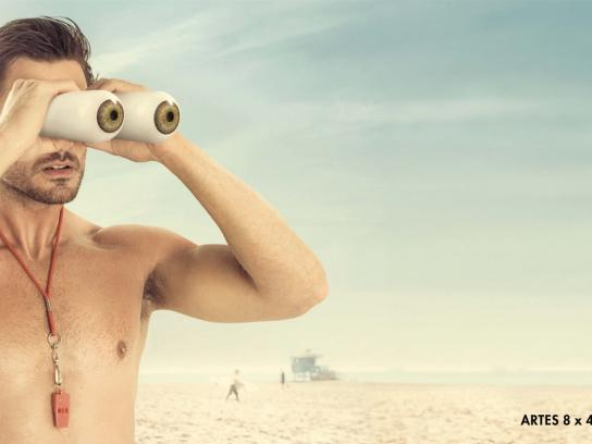 Vixen Binoculars Outdoor Ad - Lifeguard