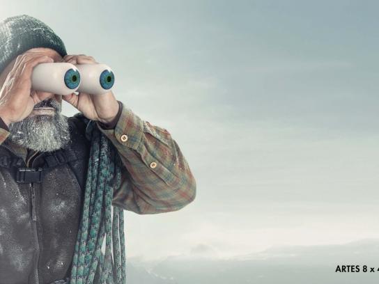 Vixen Binoculars Outdoor Ad - Mountaineer