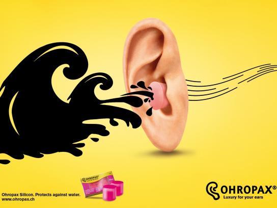 Ohropax Print Ad -  Water