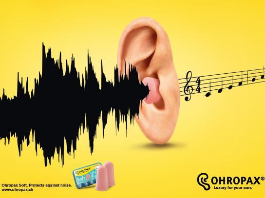 Ohropax Print Ad -  Noise