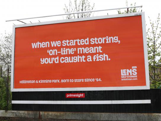 Len's Self Storage Outdoor Ad - Born To Store Since '64