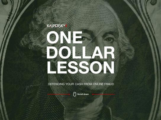 Kaspersky Lab Digital Ad -  One Dollar Lesson